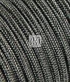 Cable eléctrico Redondo merlotti 20345h03vv-f 2x 0.75, Lamè Gris, 3m