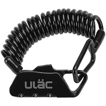 ULAC 自転車 ロック 鍵 ワイヤーロック ロードバイク ベビーカー バイク サドルロック 軽量 携帯便利 盗難防止 四つ色(黒)