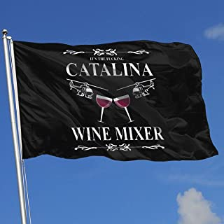 Sisa Catalina Wine Mixer 3x5 Foot Flags Outdoor Flags 100% Single-Layer Translucent Polyester 3x5 Ft