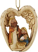 Holy Family in Angel Wings Resin Christmas Nativity Scene Ornament, 2 1/2 Inch