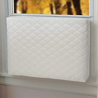 Homydom Indoor Air Conditioner Cover Double Insulation, Large Beige