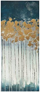 Madison Park Midnight Forest Wall Art Hand Embellished Abstract Stretched 3 Piece Set Canvas Painting Living Room Décor, Gold (Renewed)