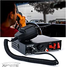 Xprite 200 Watt 8 Tones Emergency Warning Siren PA System Kit w/Handheld Microphone & Light Control Switches (Speaker Not Included)