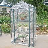 Denash Carpas de Invernadero, 69x49x126cm Jardín Invernadero Plantas de Flores Jardinería Cubierta de Tela para Exteriores Impermeable Anti-UV Transpirabilidad Solar