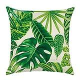 Blue Vessel Tropical Beach Kissen decken Regenwald Palme Bananen Leaf Muster (1#)