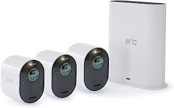 سیستم دوربین Arlo Ultra - 4K UHD Wireless-Security 3 | فضای داخلی / فضای باز با دید رنگی در شب ، دید 180 درجه ، صدای دو طرفه ، کانون توجه ، آژیر | با الکسا و هومکیت کار می کند | (VMS534) (تجدید شده)