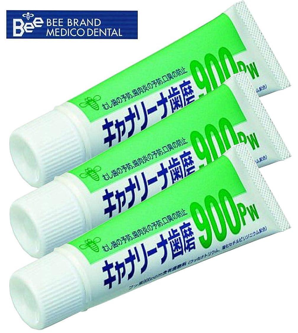 感動する豚オフセットビーブランド(BeeBrand) キャナリーナ 歯磨 900Pw × 3本セット 医薬部外品