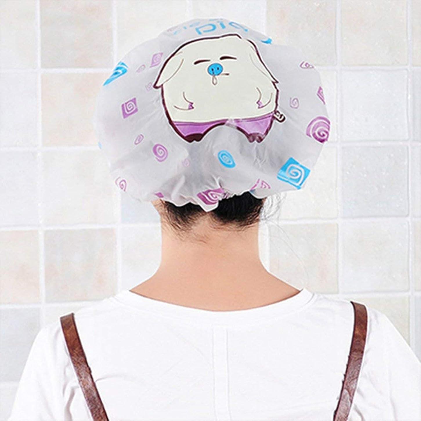アストロラーベ切り刻む政治Swiftgood 女性のスパ、家庭用、ホテルおよび美容院のためのプラスチックシャワー?キャップの大きく弾力がある厚いバス帽