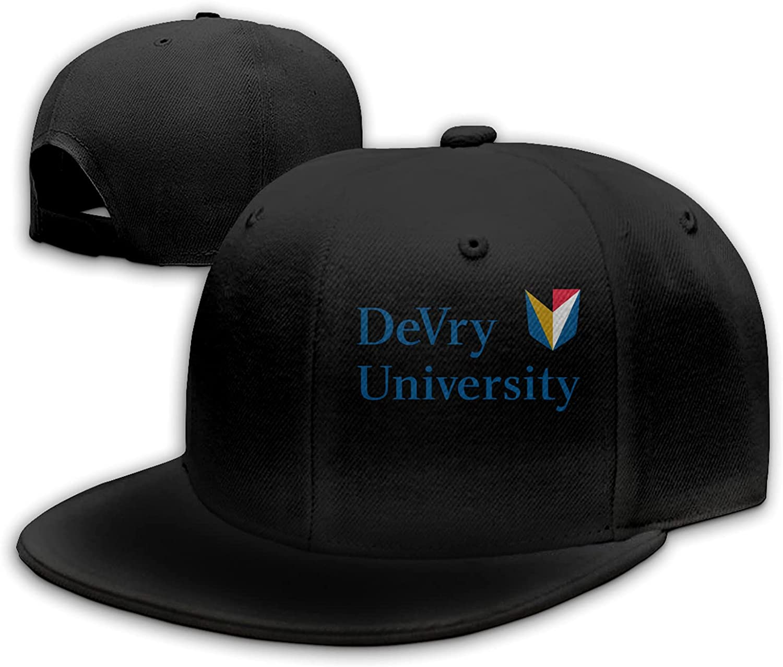 Ali Yee DeVry University Administrative Office Logo Adjustable Flat Brim Hat, Outdoor Hat, Unisex Sports Baseball, Trucker Hat Black