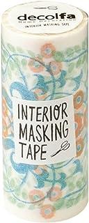 ニトムズ デコルファ (decolfa) インテリア マスキングテープ ダマスク/グリーン キレイにはがせる 幅10cm×長さ8m M3705