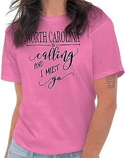 North Carolina is Calling Love Traveling NC T Shirt Tee