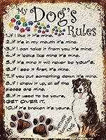 My Dog's Rules ティンサイン ポスター ン サイン プレート ブリキ看板 ホーム バーために