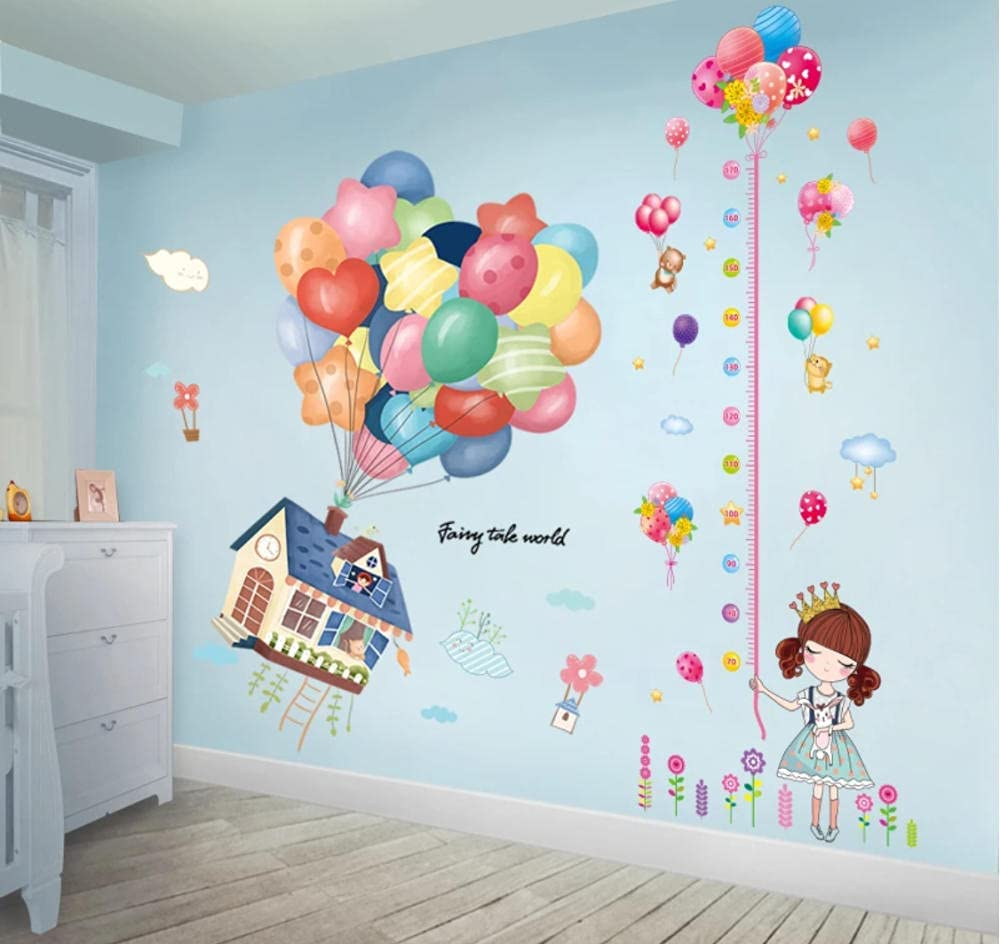 AAHPH Cheap sale Colorful Balloons Wall Stickers Girl DIY Me Cartoon Height 70% OFF Outlet
