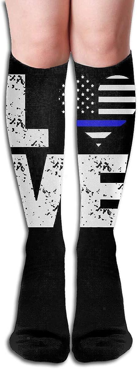 Women's Knee High Socks Love America USA Flag Climbing Casual Girls Leg Winter Warmer Dresses Knit Long Boot Stockings