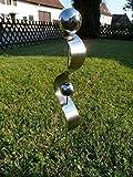 Edelstahlstele'D-60cm' Gartenstecker aus Edelstahl Gartendeko Pflanzenstab Pflanzenstecker