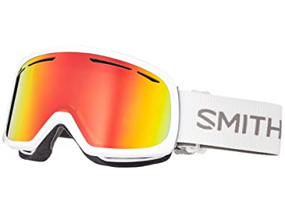 Smith Optics Drift Goggle (White/Red Sol-X Mirror/Extra Lens Not Included) Snow Goggles