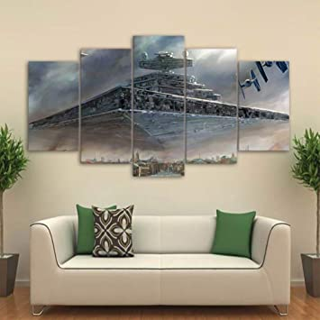 XLST HD 9 Stück Leinwand Kunst gedruckt Star Wars Malerei Wohnzimmer Wand  Kunst Leinwand Poster Bild