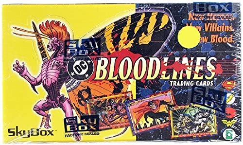 DC Bloodlines 36 Count Trading voitureds Box