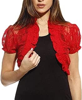 Women Open Fornt Summer Loose Lace Shrugs Bolero Crop Jacket Cardigan