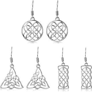 Best sterling silver celtic drop earrings Reviews