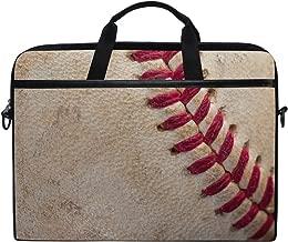 AGONA Vintage Baseball with Red Seams Laptop Shoulder Messenger Bag 15 inch Case Sleeve for 14 Inch Laptop Case Laptop BriefcaseCompatible Notebook MacBook Ultrabook Chromebookfor Men Women