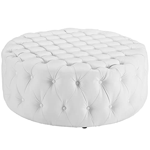 Remarkable White Tufted Ottoman Amazon Com Gmtry Best Dining Table And Chair Ideas Images Gmtryco