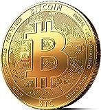 Moneta Fisica Bitcoin rivestita in Oro 24 carati. Vero Pezzo...