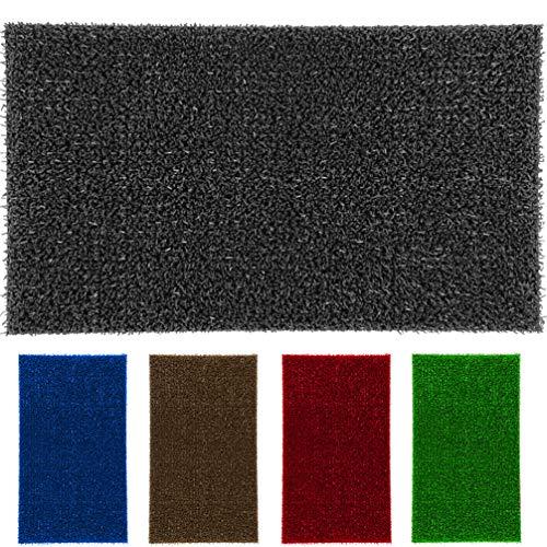 LucaHome - Felpudo Astroturf Reciclado 40x70 con Base Antideslizante, Felpudo de Césped Artificial,, Tacto Agradable, Ideal para Interior o Exterior (Gris)