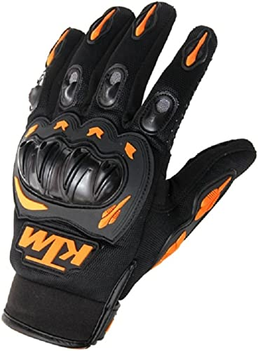 KTM Motorcycle Riding Gloves Orange with Black Colour