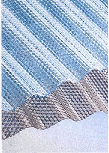Polycarbonat Lichtplatten Profil 76/18 Sinus (Welle) - Wabe - klar 2,8 mm(Euro 25,90 qm)
