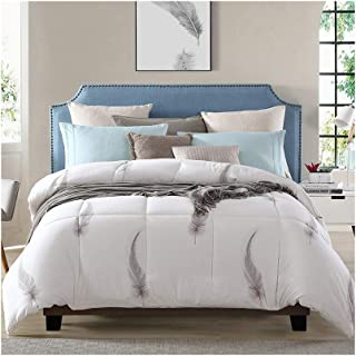 Luxurious Duvet Spring/Autumn/Winter Thickened Keep Warm Single/Double Bedding - White Comforter Family/Student Dormitory - Cotton Fabric Cozy Printing Quilt (Size : 220240cm 4.5kg)