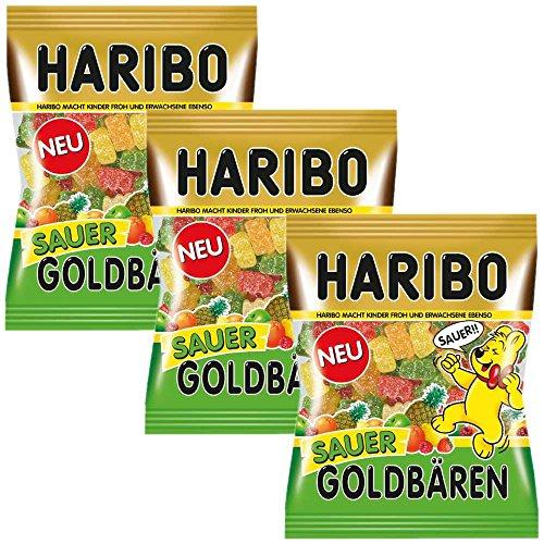 Haribo Goldbären sauer (3x200g Beutel)