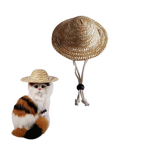 e50e9700ba6ef Milopon Pet Hat Cap Cat Dog Straw hat Summer Sun Hat Dog Caps Small Pet  Supplies