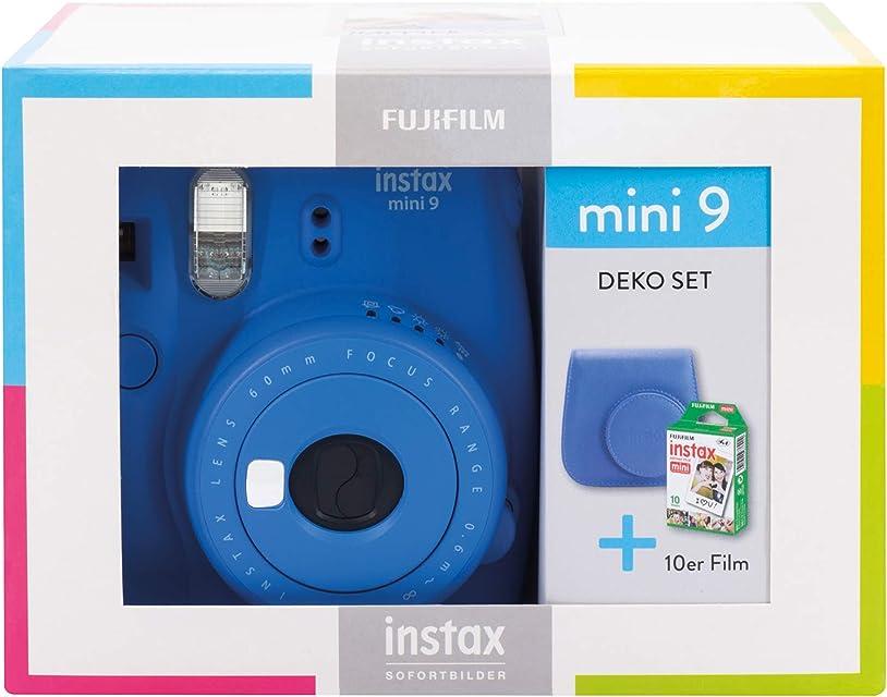 Instax Mini 9 Cobalt Blue Travel Set - Juego de Accesorios de Viaje