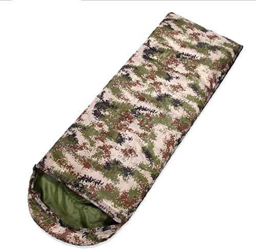 YHSFC Sac de Couchage - Fermeture à glissière intégrée au Camouflage, étanche au Vent et à la Chaleur, adaptée au Camping en Plein air