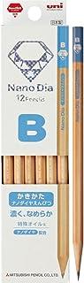三菱鉛筆 かきかた鉛筆 ナノダイヤ 木軸 B 青 1ダース K6906B