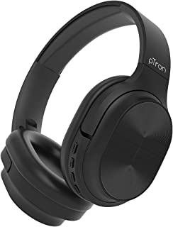 pTron Studio Pro Soundster Hi-Fi Over The Ear Wireless Bluetooth Headphones with Mic, Long Battery Life & Passive Noise Ca...