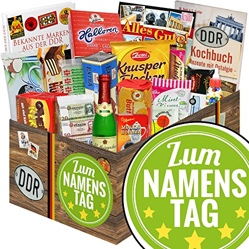 Zum Namenstag / DDR Geschenkbox Sueß / Namenstag Geschenke für Frauen