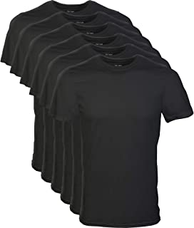 Gildan Men's Crew T-Shirt, 6-Pack, Black