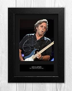 Eric Clapton 1 MT - Signed Autograph Reproduction Photo A4 Print(Black Frame)