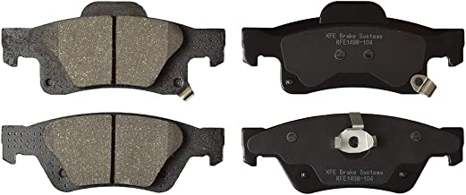KFE Ultra Quiet Advanced KFE1498-104 Premium Ceramic Rear Brake Pad Set