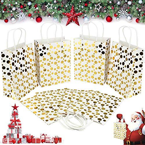 SNAGAROG 24 Pezzi Sacchetto Kraft 15*8*20CM Bustine Carta Kraft Borse Carta Kraft Sacchetti di Carta...