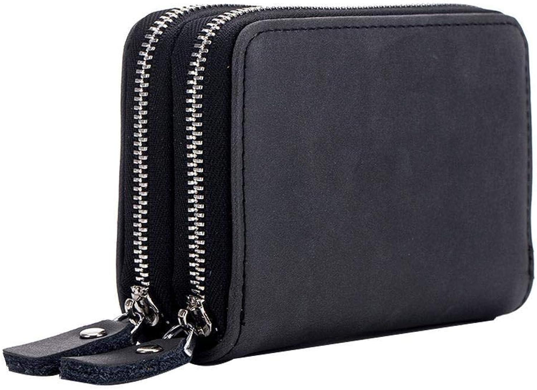 Girls Purse Women's Wallet MultiFunction DoubleDeck Card Bag Zipper Cross Section Key Bag Large Capacity Wallet 11  7.5  3.7cm (color   A)