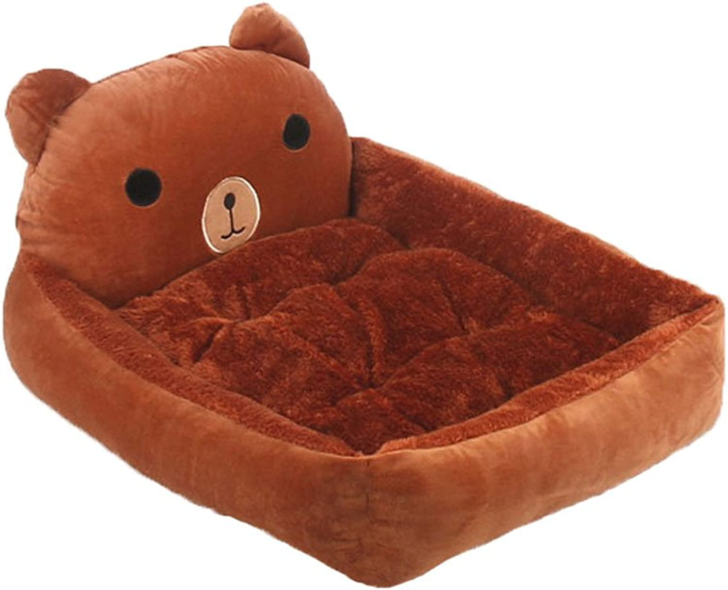 GHMM Pet Bed Arctic Cashmere Fabric Dog House Four Seasons Universal Slip Soft Comfort Cool Breathable And Durable Warm Pet bed (color   BROWN, Size   M)