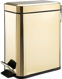 mDesign poubelle sous évier capacité 5L – poubelle à pédale compacte avec réceptacle intérieur pour cuisine, bureau, salle...