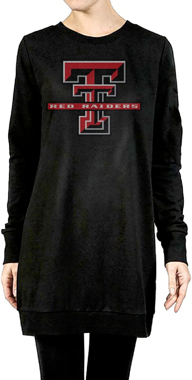Texas Tech University Red Raiders Women's Long Hoodies Black