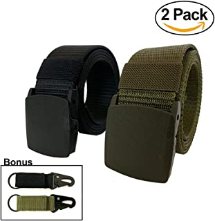 Nylon Military Tactical Outdoor Webbing Canvas Belt with Plastic Buckle
