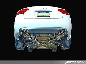 AWE Tuning 3040-43012 Audi B7 A4 3.2L Touring Edition Quad Tip Exhaust (Diamond Black Tips)