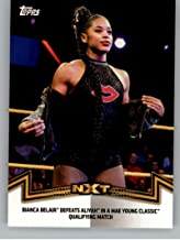 2018 Topps WWE Women's Division Memorable Matches and Moments #NXT-11 Bianca Belair Defeats Aliyah Wrestling Trading Card