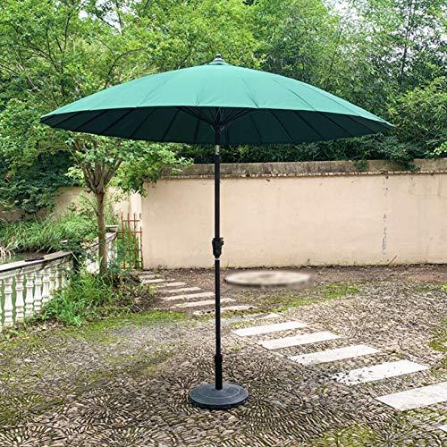 HH- Sombrillas Sombrilla de Sol con Manivela E Inclinación de 8.2 Pies / 2.5 M, Sombrilla de Jardín para Patio Trasero/Junto A La Piscina/Patio, Protección Solar UV50 +, Redonda, 4 Colores
